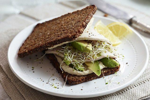 Thực đơn ngày 4 với bánh mì đen giảm cân