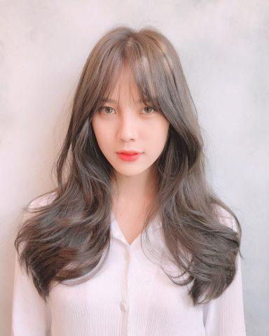 Tóc layer mái thưa - Kiểu tóc tỉa layer cho mặt tròn Hàn Quốc