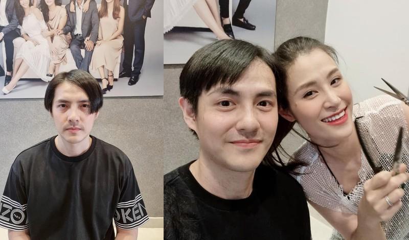 Vợ cắt tóc cho chồng Ông Cao Thắng