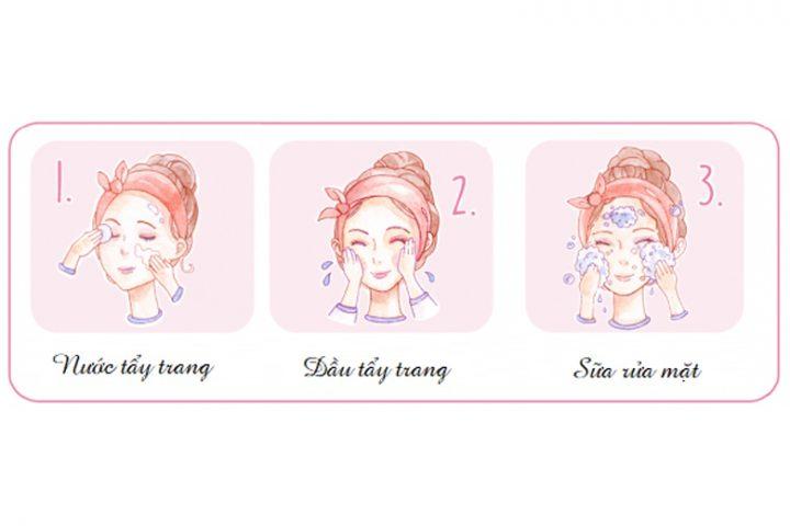 Làm sạch sâu da mặt với phương pháp Triple Cleaning