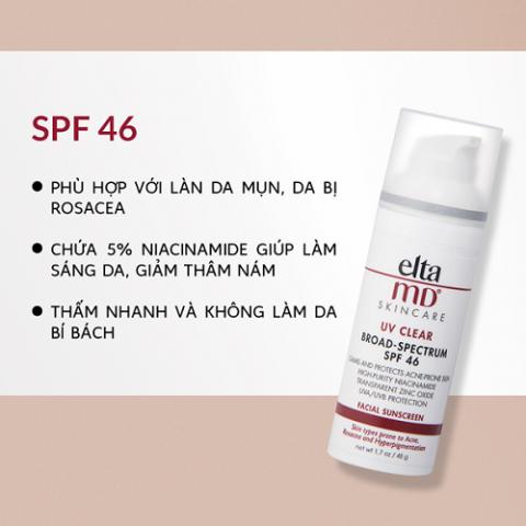 Kem chống nắng phổ rộng EltaMD UV Clear SPF 46