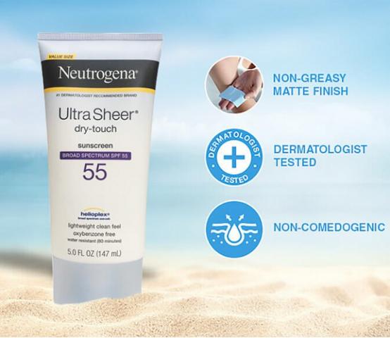 Kem Chống Nắng Phổ Rộng Neutrogena Ultra Sheer Dry Touch SPF 55
