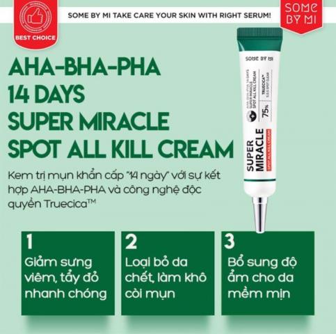 Kem trị mụn Some By Mi AHA-BHA-PHA 14 Days Super Miracle Spot All Kill