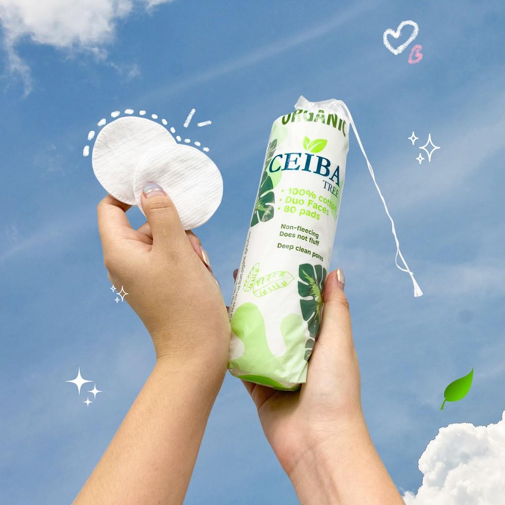 Bông tẩy trang tốt cho da mụn 100% Cotton Ceiba Tree