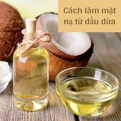 Cách làm mặt nạ dưỡng ẩm từ dầu dừa