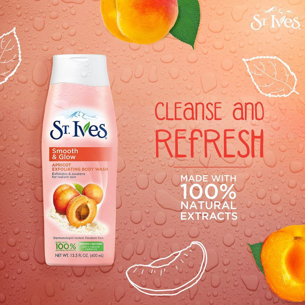 St.Ives Smoothing Apricot Body Wash