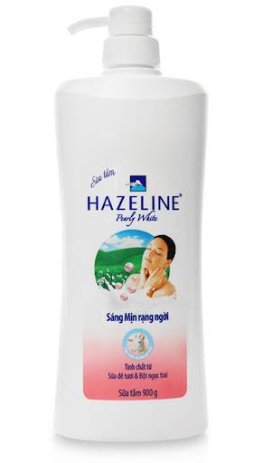Sữa tắm mịn da Hazeline Pearly White