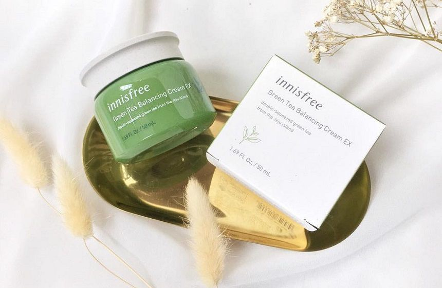 Innisfree Green Tea Balancing Cream EX cho da dầu mụn