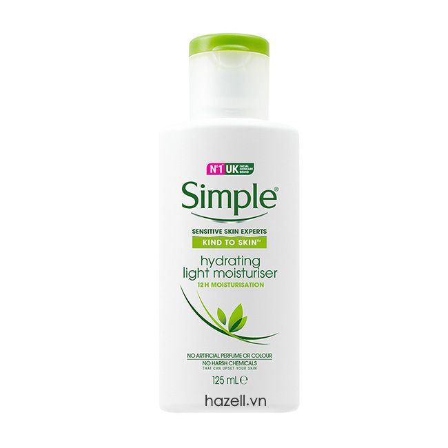 Kem dưỡng ẩm Simple Hydrating Light Moisturiser cho da dầu mụn ban đêm