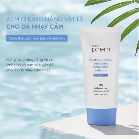 Kem chống nắng Nhật Bản cho da dầu Make P:rem UV Defense Me