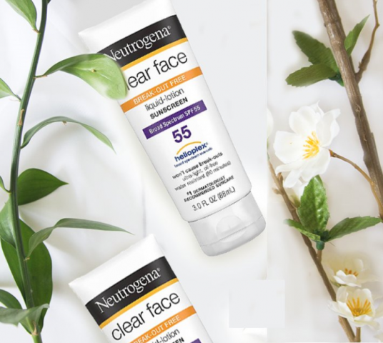 Kem chống nắng cho da mụn dầu Neutrogena Clear Face SPF 55