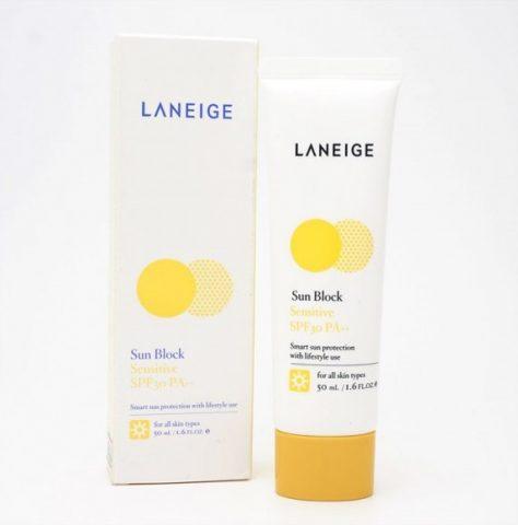 Kem chống nắng dành cho da nhạy cảm Laneige Sunblock Sensitive SPF30
