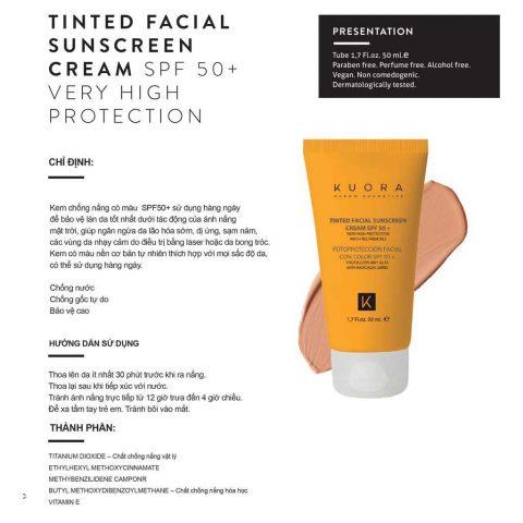 Kem chống nắng lai vật lý hóa học Koura Oil Free Facial Cream SPF 50+ từ Tây Ban Nha