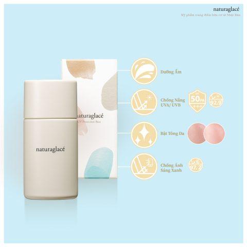 Kem chống nắng hữu cơ NATURAGLACE UV PROTECTION BASE N thay kem lót
