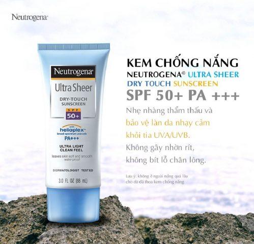 Kem chống nắng kiềm dầu Neutrogena Ultra Sheer Dry-Touch Sunscreen SPF 45