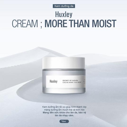 Kem dưỡng ẩm cho da khô Huxley Cream More Than Moist