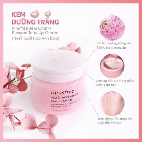 Kem Innisfree Jeju Cherry Blossom dưỡng trắng và cấp ẩm