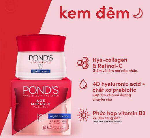 Kem Pond's ban đêm Age Miracle