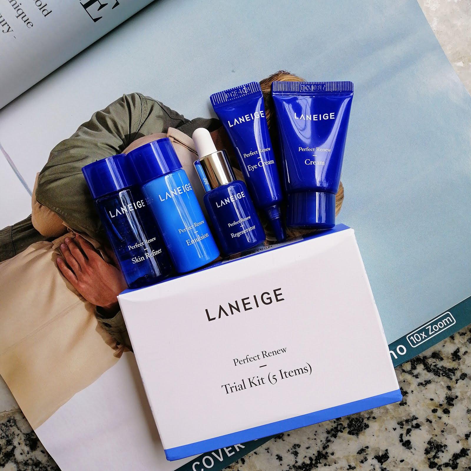 bộ dưỡng da Laneige Perfect Renew Trial Kit 5 Items