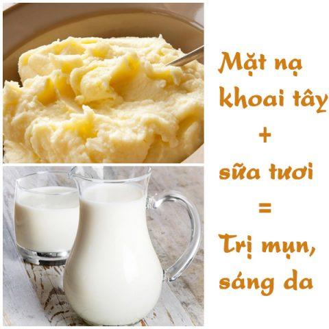 Mặt nạ trắng da thiên nhiên từ khoai tây và sữa tươi