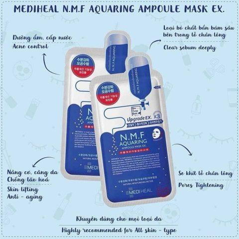 Mặt nạ dưỡng ẩm Mediheal N.M.F Aquaring Ampoule Mask