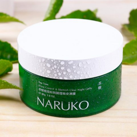 Mặt nạ ngủ kiềm dầu giảm mụn Naruko Tea Tree Shine Control & Blemish Clear Night Gelly