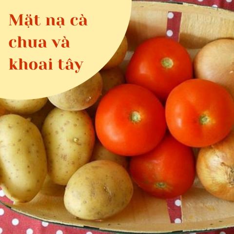 Mặt nạ trắng da từ cà chua và bột khoai tây