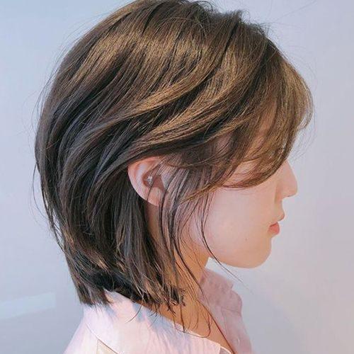 tóc mullet 2 mái uốn cụp đuôi