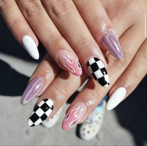 nail đơn giản cho học sinh cool ngầu