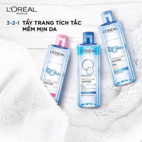 Nước tẩy trang L'Oreal Paris Micellar cho mọi loại da