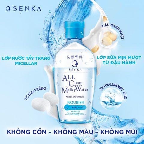 Nước tẩy trang cho da dầu Senka