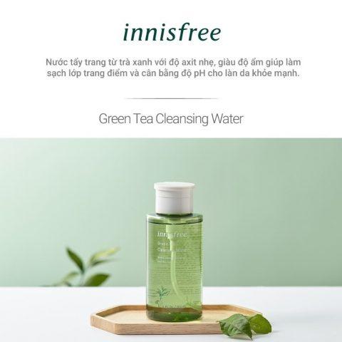 Nước tẩy trang cho da mụn Innisfree Green Tea
