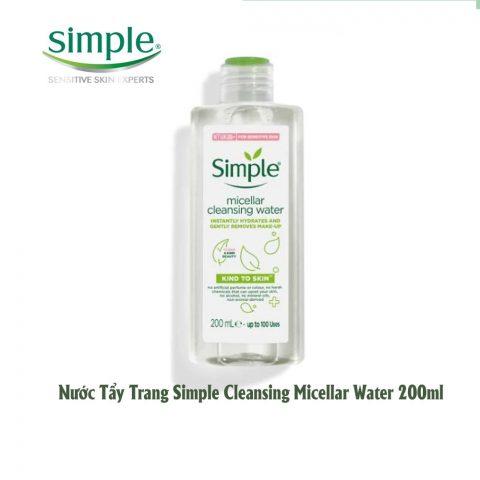 Nước tẩy trang dịu nhẹ cho da dầu mụn Simple