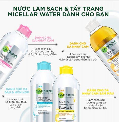 Nước tẩy trang Garnier Skin Active Solution