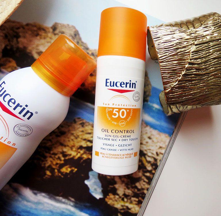 review kem chống nắng Eucerin Sun Gel- Cream Oil Control SPF 50+