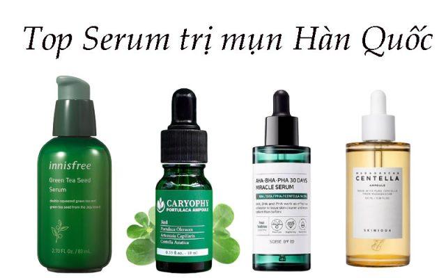 """Review top 10 serum trị mụn Hàn Quốc hiệu quả """"đỉnh của chóp"""" cho da dầu"""