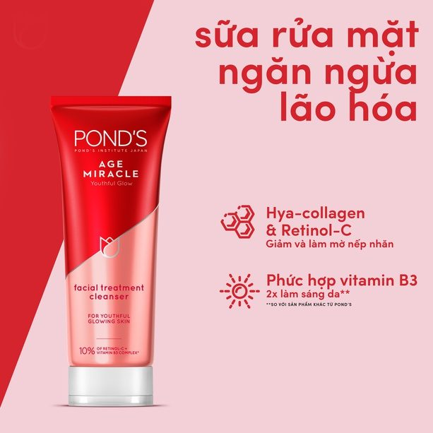 Sữa rửa mặt chống lão hóa Pond's Age Miracle (Nguồn: internet)