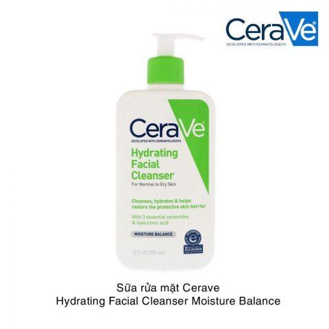 Sữa rửa mặt cho da hỗn hợp thiên khô Cerave Hydrating Facial Cleanser