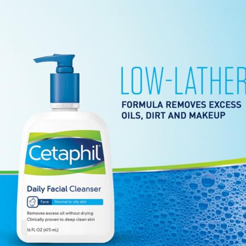 Sữa rửa mặt cho da hỗn hợp thiên dầu Cetaphil Daily Facial Cleanser