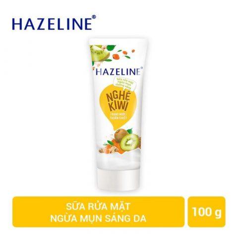 Sữa rửa mặt làm trắng da ngừa mụn Hazeline Kiwi - Nghệ