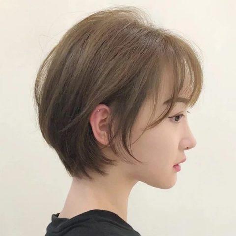 tóc ngắn layer cho mặt tròn