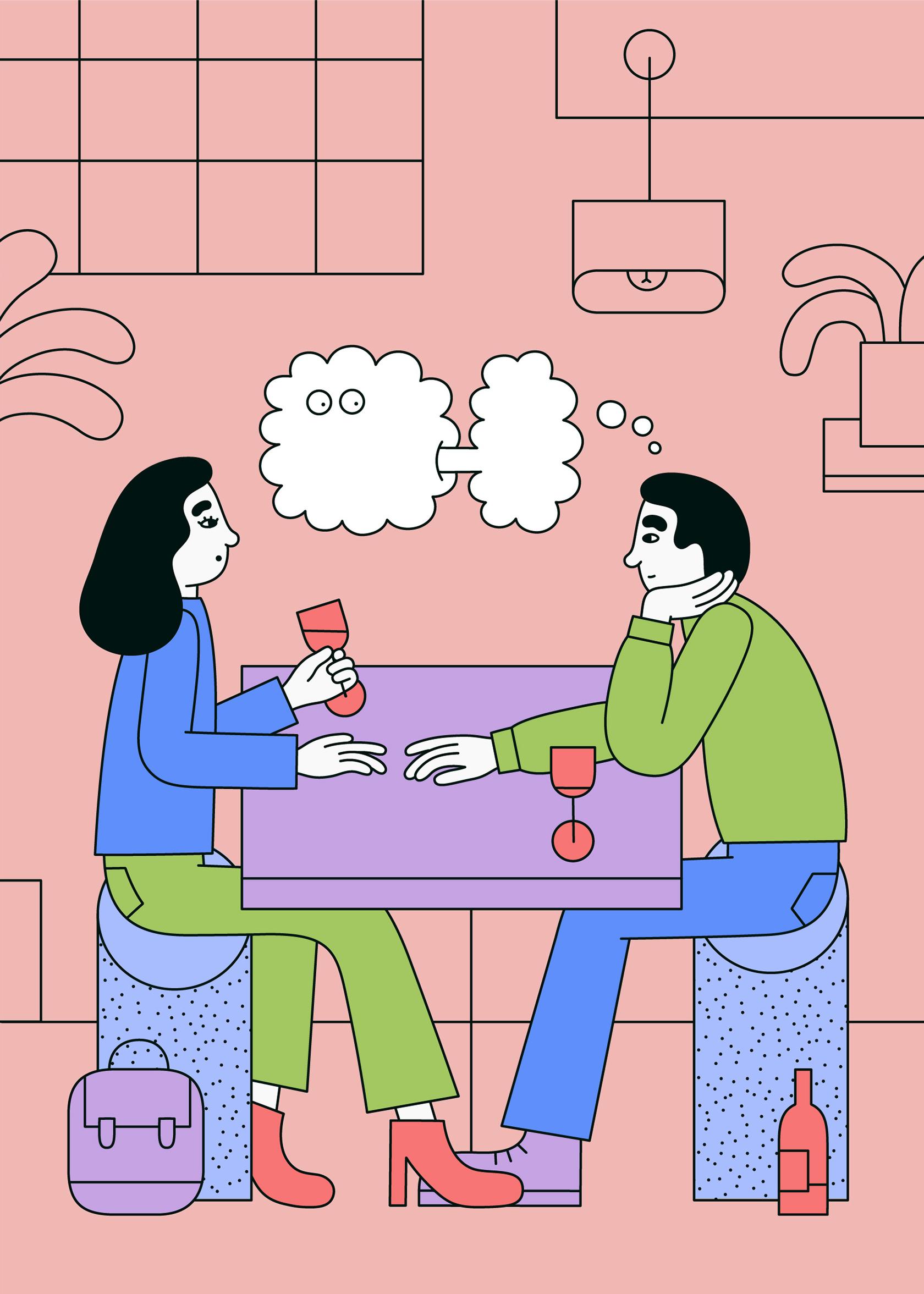 Image result for couple talking illustration