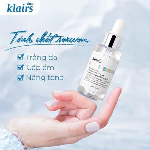 Serum Vitamin C Klairs Freshly Juiced Vitamin Drop cho da dễ kích ứng nhạy cảm