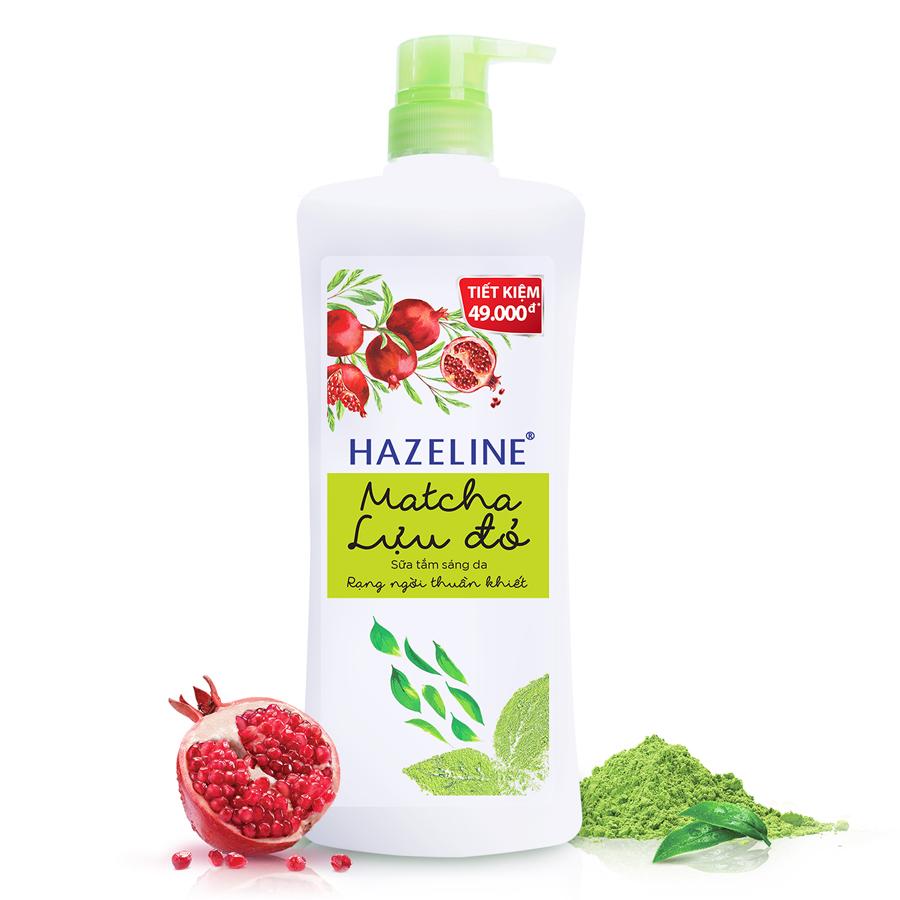 Sữa tắm Hazeline Matcha & Lựu Đỏ