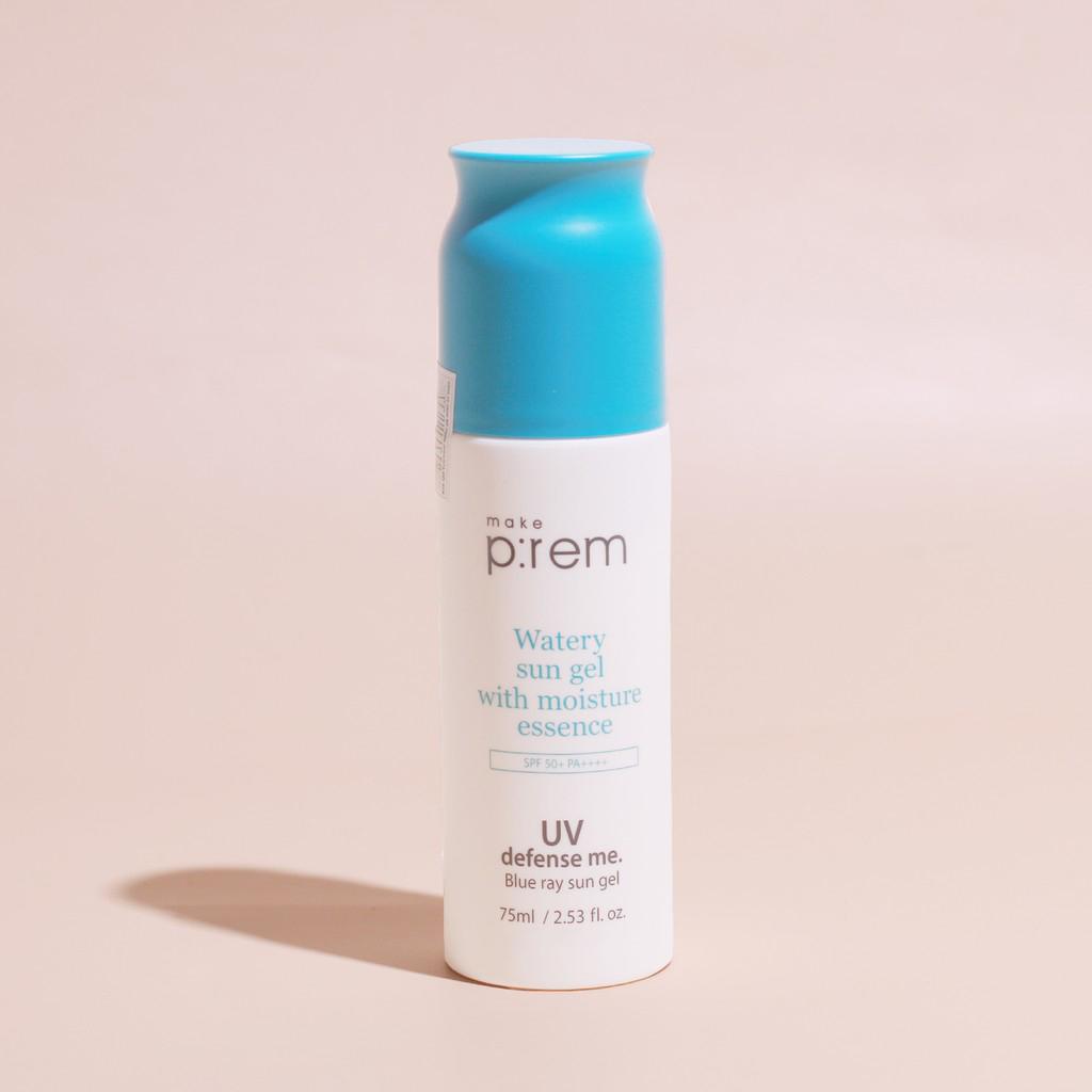 kem chống nắng không nâng tone  Make P:rem UV Defense Me. Blue Ray Sun Gel
