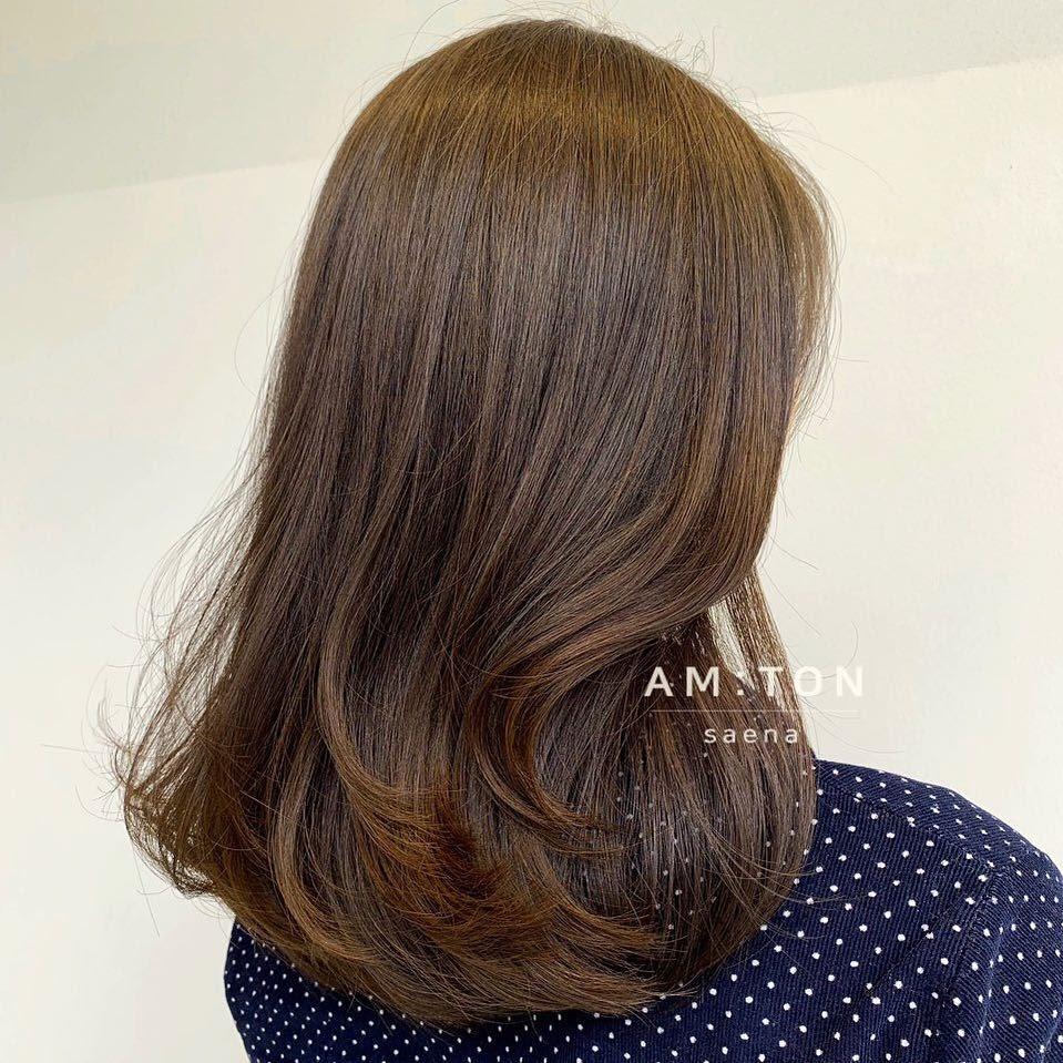 tóc uốn cúp đuôi nhẹ